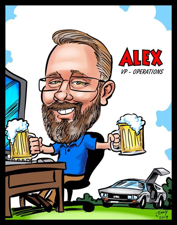 Cartoon of Alex