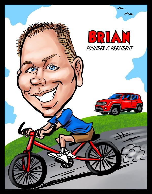 Cartoon of Brian
