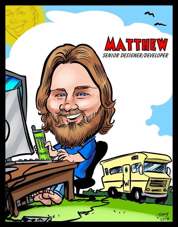 Cartoon of Matthew